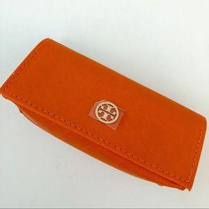 Tory Burch Accessories - 🏷Tory Burch Orange Leather Optical Case